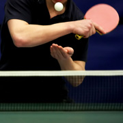 A semi-pro table tennis player