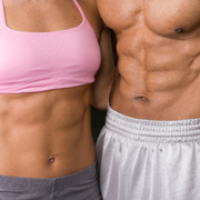 Man and woman with six-packs