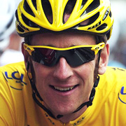Bradley Wiggins with sunglasses on