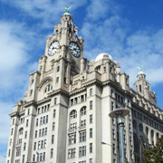The Royal Liver Building in Liverpool, Merseyside